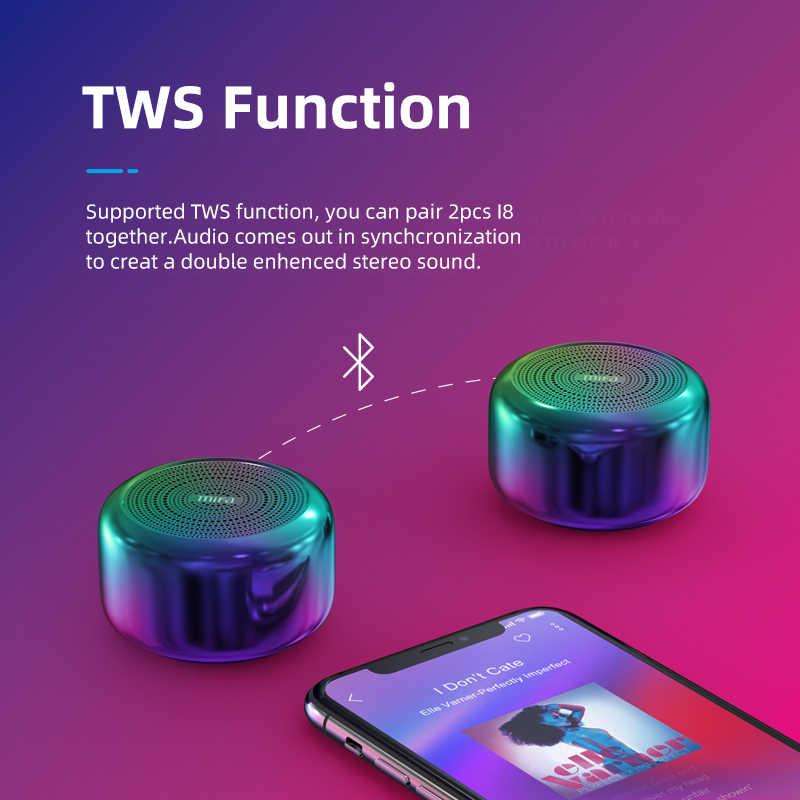 Mifa i8 Altavoz Bluetooth TWS portátil llamada manos libres aleación de aluminio Multicolor cuerpo Mini micrófono inalámbrico Bluetooth 4,2 altavoces