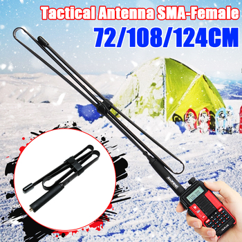 72-124 Cm Sma-Female Dual Band 144/430Mhz Opvouwbare Cs Tactische Antenne Voor Baofeng UV-82 UV-5R BF-888S Walkie Talkie Ham Radio
