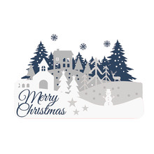 Naifumodo Merry Christmas Dies House Tree Metal Cutting New 2019 for Card Making Scrapbooking Embossing Stencil Craft