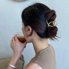 New Fashion Women Hair Claws Hair Crab Clamp Hairgrip Matte Metal Hair Clip Claw Hairdressing Tool Hair Accessories For Women