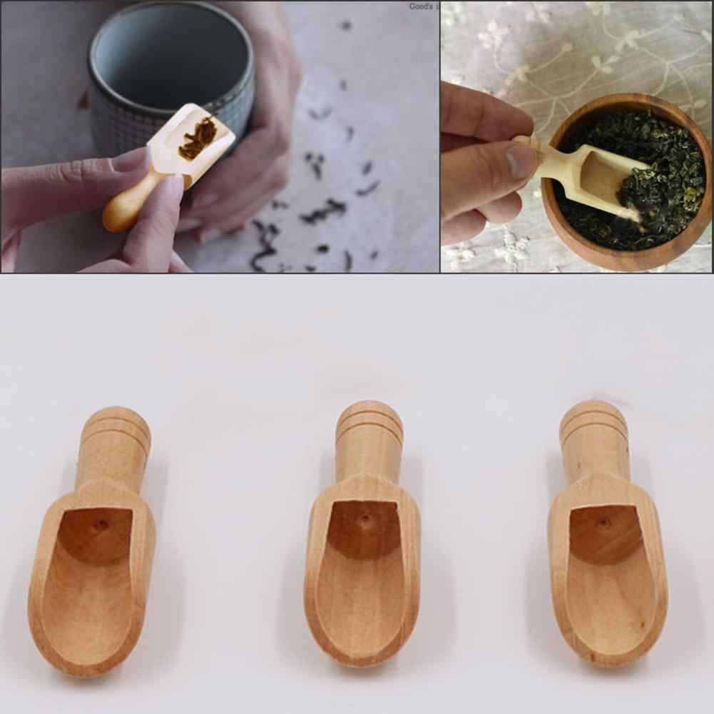 천연 나무 커피 차 설탕 소금 분말 스푼 특종 주방기구 도구