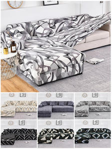 Sofa-Covers Longue Chaise Corner Stretch Living-Room Elastic L-Shape 2pieces for Towel
