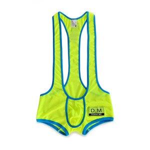 Image 1 - Male underwear boxer mens underpants mesh breathable boxer men ropa interior hombre bodysuit cueca masculina bielizna underwear