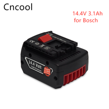 14.4V 3.0Ah Lithium Ion Replacement Rechargeable Power Tool Battery for Bosch BAT607 BAT607G BAT614 BAT614G 2607336318 free shippingnew replacement power tool battery plastic case and hardwares for bosch 24v