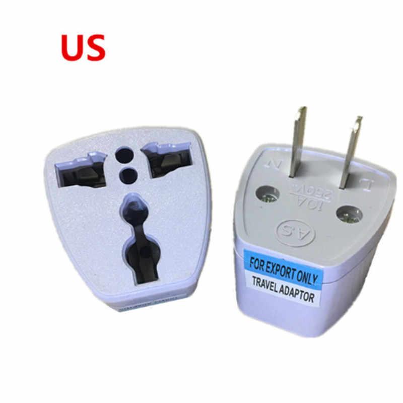Белый Универсальный США ЕС AU конвертер для Великобритании HK 3 Pin AC дорожное сетевое Мощность штекер Зарядное устройство в комплект поставки входит адаптер UK Штекерный