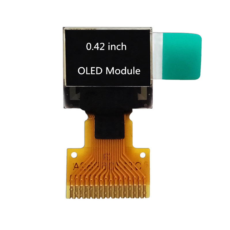 Highlight 72*40  0.42 Inch OLED Display Screen LCD Module OLED Module IIC/SPI Interface 16Pin SSD1306