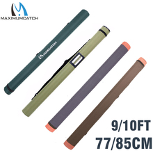 "Maximumcatch Army Green Cordura Rod Case Carbon Fiber Fly Rod Tube for Rods 30"" fits 9 and 10 Fishjng Bag"