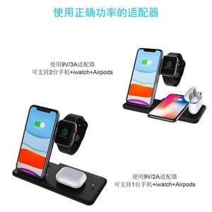 Image 5 - 15w 3 ב 1 אלחוטי מטען עבור iPhone מהיר אלחוטי טעינת אינדוקציה מטען עבור iPhone 11 Airpods פרו 1 2 Apple שעון 5 4 3