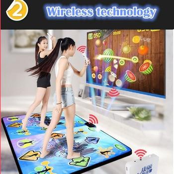 KL Double Dance Mat Wireless Controll Games Yoga Mats Fitness English Menu Dance Pads Mats For TV PC Computer Flash Light Guide