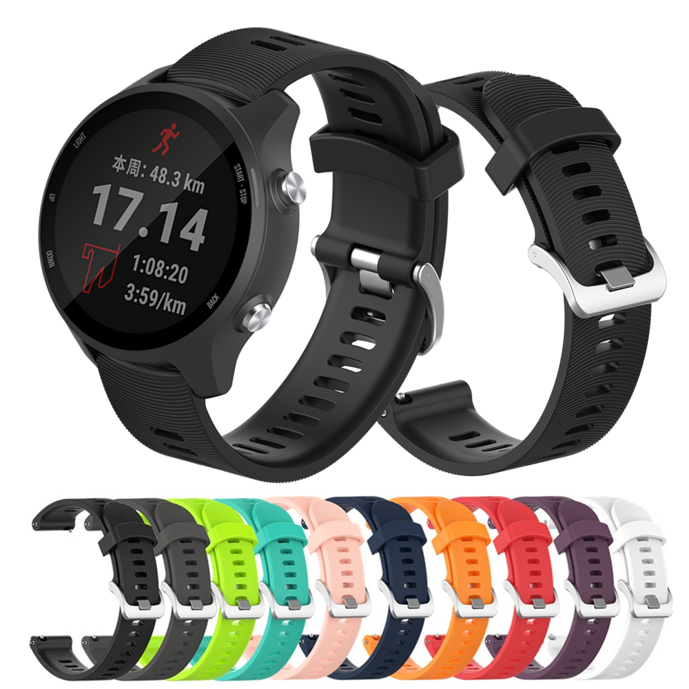 Silicone Smart Watch Band Strap For Garmin Forerunner 245 245M 645 Venu Vivoactive 3 Bracelet For Samsung Galaxy 42mm Wristband