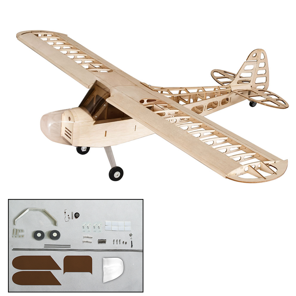 S0801 1.2M J3 4CH ESC Servo Tiger Moth DIY Home Decor Model Kids Toy Wingspan 1180mm Wood RC Airplane Kit With Motor Crafts Gift