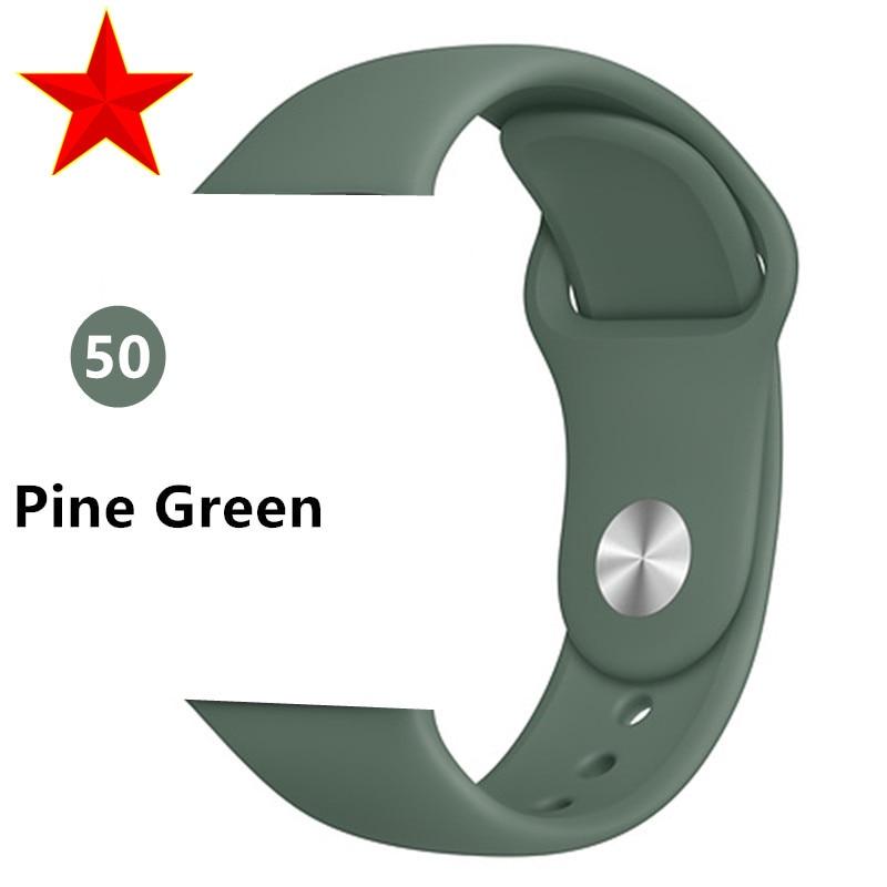 Ремешок для apple watch band 44 мм/40 мм iwatch band 5 4 42 мм 38 мм correa pulseira watch band для apple watch 5 4 3 браслет 44 мм - Цвет ремешка: Pine Green