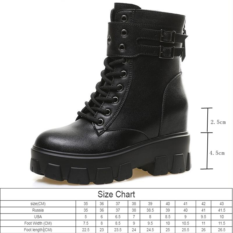 AIYUQI  Boots Women Fashion Internal Increase Women's Ankle Boots Autumn 2020 New Genuine Leather Women's Motorcycle Boots