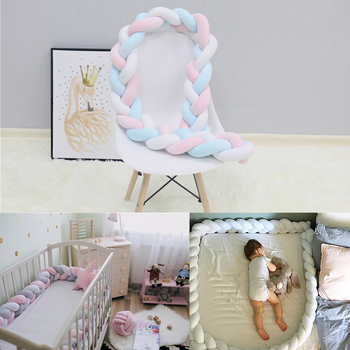 1M/2M/3M Baby Bed Bumper Nordic Baby Room Decor Handmade Knotted Braid Kids Fence Baby Crib Protector Baby Cradle Baby Bedding