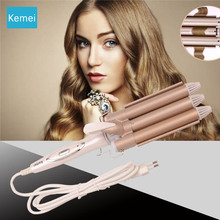 Kemei Professional hair care & styling tools Curling hair curler Wave Hair styler curling irons Hair crimper krultang iron   3 стоимость