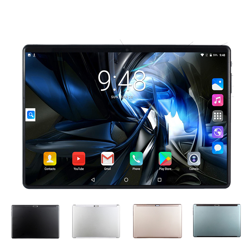 MT8752 10 Inch Tablet Pc Octa Core 3G 4G LTE Phone Call Google Market GPS WiFi FM Bluetooth 10.1 Tablets 5G 6G 128G Android 9.0
