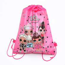 Original LOL surprise Dolls Non-woven foldable shopping bag lol dolls birthday party gift toys for Girls 34 * 27CM
