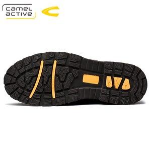 Image 4 - Camel Active New Inglaterra zapatos de cuero genuino con cordones para Hombre Zapatos casuales cosido a mano hombres de suela gruesa zapatos de hombre