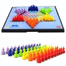 Маленькая форма тыквы магнитные портативные шестигранные прыжки шахматы и складные 6 цветов настольные шахматы Вечерние игры