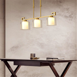 Chiński restauracji żyrandol minimalistyczny Bar osobowość twórcza restauracja lampa miedź chiński jadalnia światła