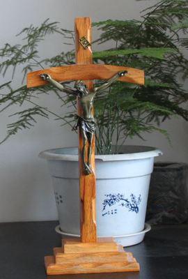 Католический ремесленные Деревянные изогнутые крест украшения, религиозной принадлежности, церковная утварь, карточки члена церкви подарки - Цвет: 1