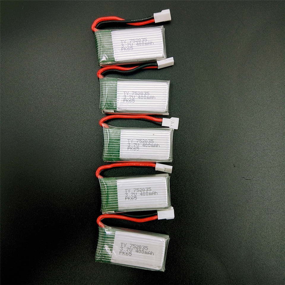 <font><b>Lipo</b></font> <font><b>Battery</b></font> <font><b>3.7V</b></font> <font><b>400mAh</b></font> 30C for JJRC H31 H43hw 2.4G 4CH 6Axis RC Quadcopter Drone Toy Part image