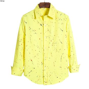 MarKyi 2020 new casual dot print men hawaiian shirt plus size long sleeve dress shirt for male cotton plus size 5xl environmental commemorative shirt for men good quality long sleeve casual dress shirt male