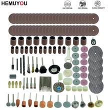 161 قطعة مجموعة لقمة مثقاب صغير أدوات جلخ طحن الرملي تلميع مجموعة أدوات القطع لمجموعة اكسسوارات دريمل