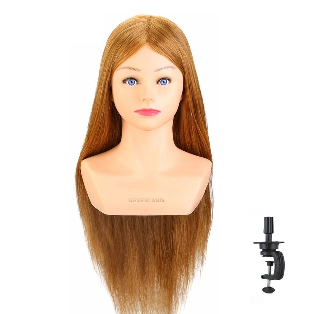 60 см 80% настоящие волосы парикмахерских Учебные головы-манекены прическа кукла Headl с плечевым плетение щипцы для завивки волос голова-манек...