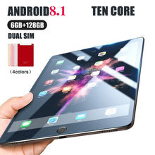 Andriod 8.0 Tien Core 10 Inch Scherm Nieuwe Originele Dual SIM 4G Telefoon Tablet PC Mic WIFI 6GB + 128G Tablet Dual Camera GPS Telefoon(China)