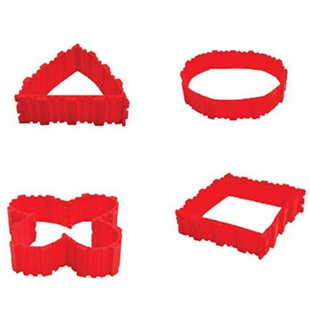 4 قطعة سيليكون قالب الكعكة للتحويل Nonstick لتقوم بها بنفسك فندان الخبز أداة المطبخ