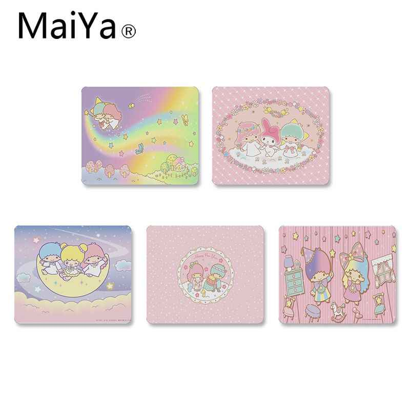 MaiYa cute Melody Little Twin Stars Laptop Gaming Mice Mousepad DIY Design gaming Mouse pad Rug For PC Laptop Notebook