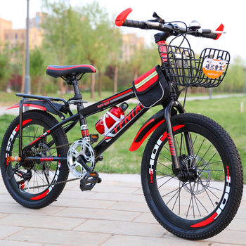 22 inch Mountain Bikes w/ Mudguard Lightweight Wind-breaking Frame Students Bicycle for Children Kids Easy Relaxed Riding School