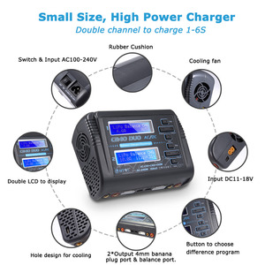 Image 4 - HTRC Lipo Charger C240 Duo AC/DC 150W/240W Dual Channel 10A DischargerสำหรับLiHV LiFe lilon NiCd NiMh Pb Battery Balance Charger