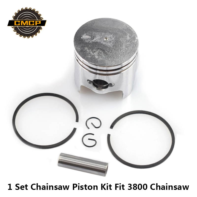 1 Set 39mm Piston Kit Fit For 3800 Chainsaw Cylinder Piston Kit Gaslione Chainsaw Piston Set Chainsaw Spare Parts