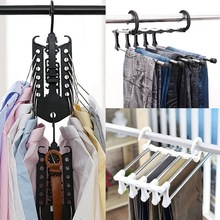 HIFUAR Multifunction Hanger rack Scarf Neck Tie Belts clothe Holder Organizer Accessory Closet Storage Shelves Hook Wardrobe