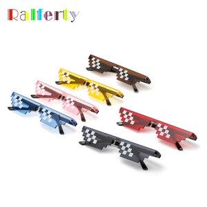 Ralferty, декоративные пиксельные очки для женщин и мужчин, фестивальные солнечные очки, брендовые маленькие, вечерние, 8 Bit Thug Life, MLG, пиксельные ...