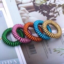 Bandeau chouchou élastique pour femmes, forme en spirale, queue de cheval, attaches en caoutchouc, corde de cheveux, fil de téléphone