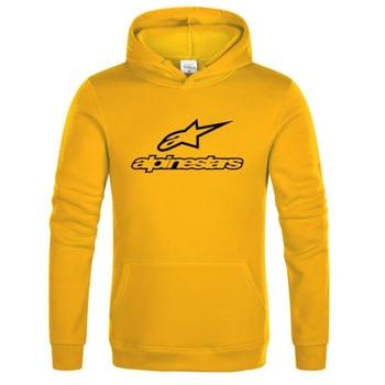 Alpine Star Sportswear Hoodies Men's Fleece Jacket Alpine Star Biker Sweatshirt Men's Pullover Hip Hop Casual Hoodie Pullover