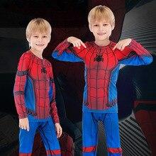 Pants-Set Rashguard MMA Clothing Shirt Sport-Suit Jiu Boys Boxing-Tight Superhero BJJ