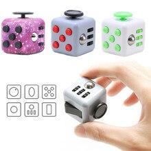 Brinquedo sensorial dos dados do alívio do estresse da ansiedade do dedo para adultos/crianças descompressão tdah necessidades especiais autismo brinquedo com caixa