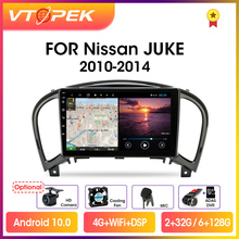 "Vtopek 9 ""4G + WiFi 2din Android 10,0 Auto Radio Multimedia Video Player GPS Navigation Für Nissan Juke YF15 2010 2014 Kopf Einheit"