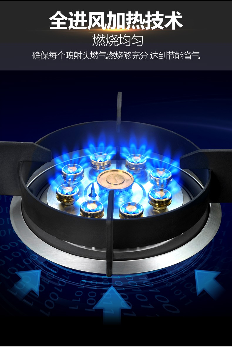 Double Gas Stove Embedded