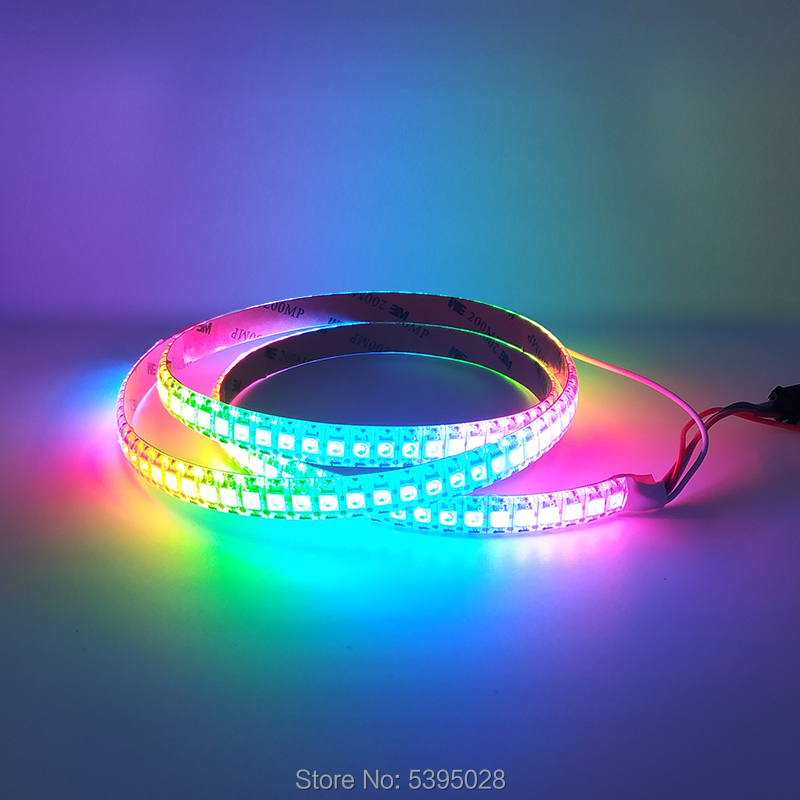 WS2812B Full-color Built-in Independent IC Smart Driver Chip SMD5050 Led Pixel Strip Lamp Programming DC5V 30/60/144leds/m
