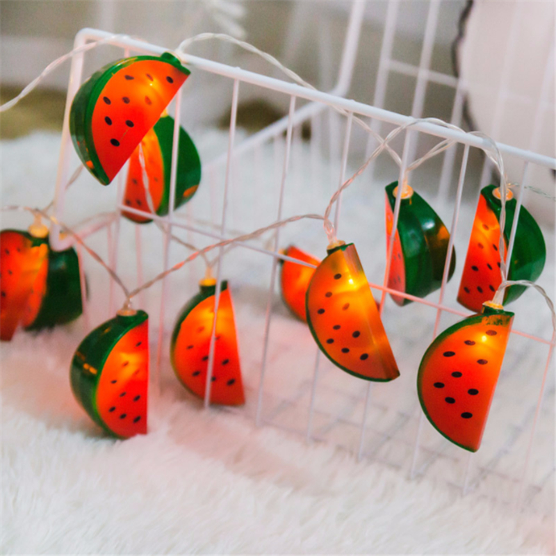 3M 20 LED Hanging Night Lights Watermelon String Fairy Lights For Wedding Party Patio Kids Bedroom Hotel Home Holiday Decoration