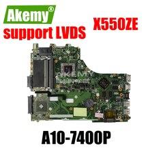 X550ZE scheda madre A10-7400CPU LVDS supporto mainboard Per For For For For Asus X550ZE X550ZA K550Z A555Z VM590Z Prova della scheda madre Del Computer Portatile di Lavoro