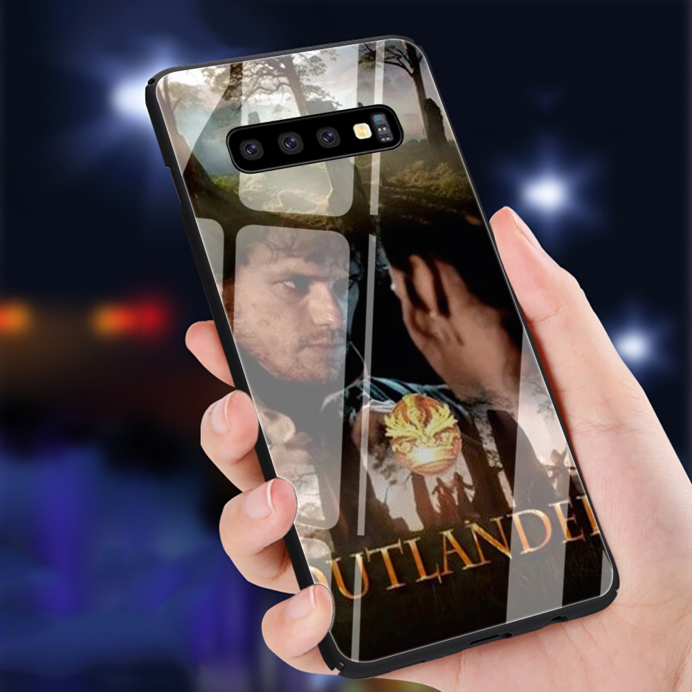 OUTLANDER Tv Shows Tempered Glass Phone Case for Samsung S7 S8 S9 S10 Note 8 9 10 plus A10 20 30 <font><b>40</b></font> <font><b>50</b></font> <font><b>60</b></font> 70 image