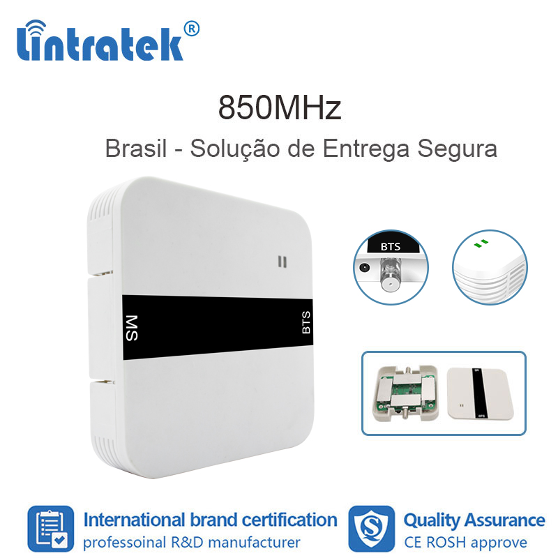 Lintratek 2G GSM 850 3G UMTS Mobile Phone Repeater CDMA Mobile Signal Repeater 850MHz Booster Antenna Mobile Brazil FL
