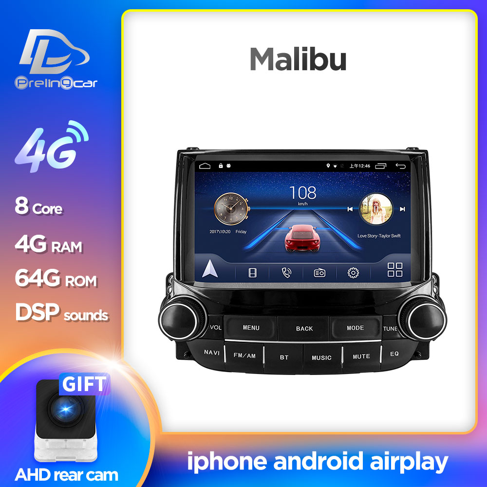 Android 9.0 System Car IPS Touch Screen Stereo For Chevrolet Malibu Player Stereo