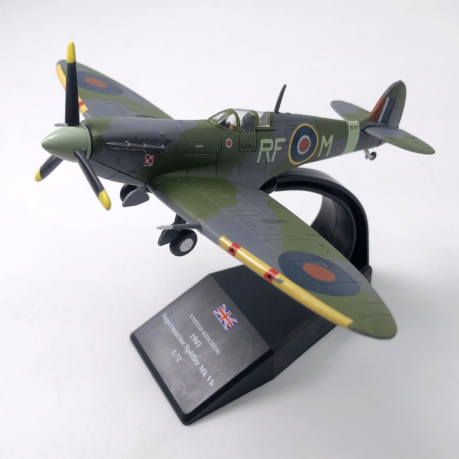 1/72 Scale WWII British Fighter Plane Airplane Diecast Metal Plane Aircraft Model Children Toy